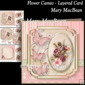 Flower Cameo - Layered Card