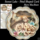 Sunset Lake - Petal Shaped Card