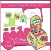 Seaside Campers Pop Up Box Card