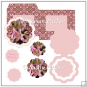 Scallope Lily Easel Card