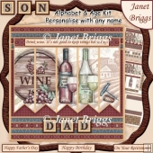 WINE DON'T KEEP THINGS BOTTLED UP 7.5 Alphabet and Age Quick Kit