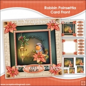 Robbin Poinsettia Pyramage Card Front Kit