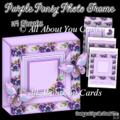 Purple Pansy Photo Frame