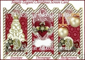 Simply Elegant Christmas Trifold Screen Card Kit with Decoupage
