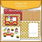 Clown 3d Card Set