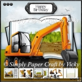 Orange Digger Open Book