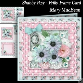Shabby Posy - Frilly Frame Card