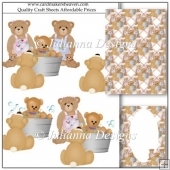 Teddies Bathtime Decoupage Set