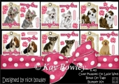6 A5 Cute Puppies on lace with bows on tags Bumper Kit