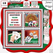 CASINO NIGHT 7.5 Quick Layer Card & Ages Mini Kit