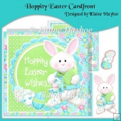 Hoppity Easter Cardfront with Decoupage