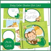 Baby Safari Shadow Box Card