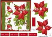 Red poinsettia and bells