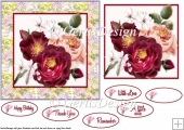 Roses 6 inches card topper 108