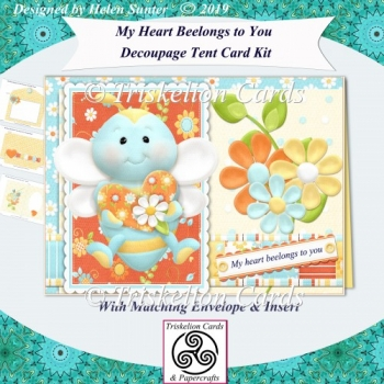 My Heart Beelongs to You 3D Tent Card with Insert and Envelope