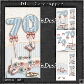 Vintage DL 70th Birthday Topper Cardkit 1294