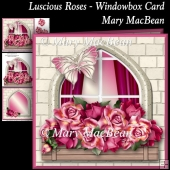 Luscious Roses Windowbox Card
