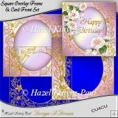 Square Overlay Frame & Card Front Set