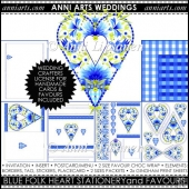 FOLK HEART WEDDING PRINTABLES: BLUE