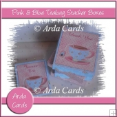 Pink & Blue Teabag Stacker Boxes