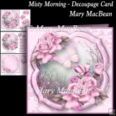 Misty Morning - Decoupage Card