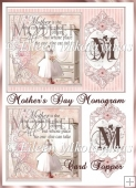 Mother's Day Monogram Card Topper with Decoupage