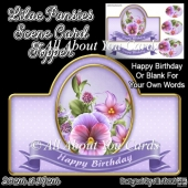 Lilac Pansies Card Topper