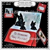 Christmas Scotty Dogs Box Card Kit