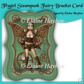 Flygirl Steampunk Fairy Bracket Shaped Card