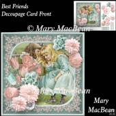 Best Friends Decoupage Card Front