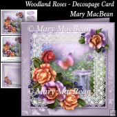 Woodland Roses - Decoupage Card