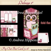 Pop Out Box Card Owl 2