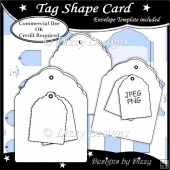 Tag Shape Card Template