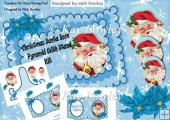 Lovely santa pyramid open scalloped book/stand mini kit