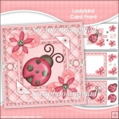 Ladybird Card Front & Insert Panel