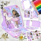 Unicorn Princess Birthday Shaped Easel Card