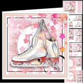 Pink Skating Boots Mini Kit