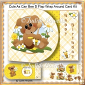 Cute As Can Bee D flap Wrap Around Card Kit