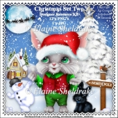 Christmas Cat Set Two - Designer Resource Kit - CU - PU - PNG