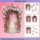 Bridal Arch Shaped Wedding Card Mini Kit