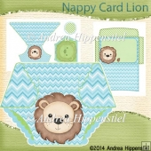 Nappy Card Lion