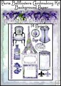 Flea Market Chic Paris Bellflowers Cardmaking Kit