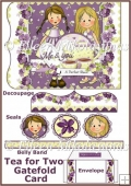 Tea for Two Gatefold Friendship Card Set