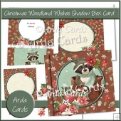 Christmas Woodland Wishes Shadow Box Card