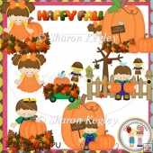 Pumpkin Patch Kids Brown Designer Resource Graphic
