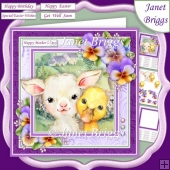 SPRING PALS & PANSIES 7.5 Decoupage & Insert Mini Kit