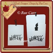 454 Birthday Slider Card *MACHINE & HAND Formats*