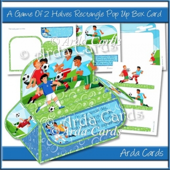 A Game Of Two Halves Rectangle Pop Up Box Card