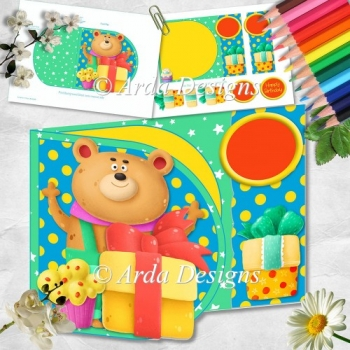 Birthday Bear D Flap Card