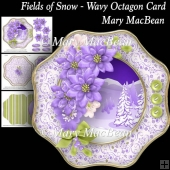 Fields of Snow Wavy Octagon Card